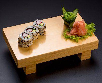 California Rolls 3buc - orez sushi, surimi, castraveți, avocado