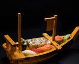Sushi Chef's Special - Salmon Nigiri 1 buc, Tuna Nigiri 1 buc, Shrimp Nigiri 1 buc, Butterfish Nigiri 1 buc, Butterfish Guncan 1 buc, California Rolls 3 buc, Crispy salmon Rolls 3 buc