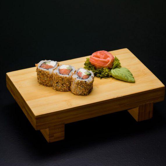 Philadelphia Salmon Rolls 3 buc - orez sushi, somon, castraveți, cremă Philadelphia