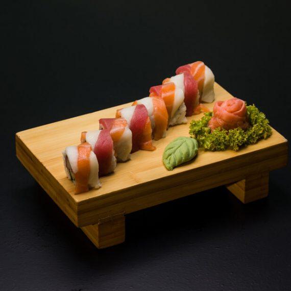 Rainbow Rolls Wrap 8buc - orez sushi, somon, ton, butterfish