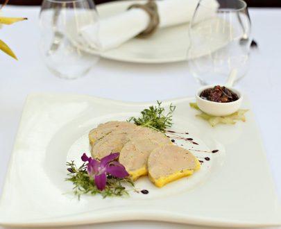 Terină de foie gras cu chutney de smochine si ginger